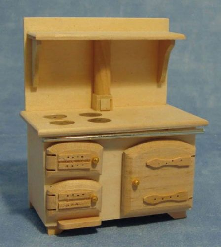 Barewood Dolls House Furniture Bare Essentials 1:12 BEF075 Solid Fuel Stove